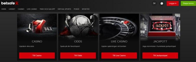 Betsafe-spelare kan njuta av hela spektrumet på över 1200 kasinospel