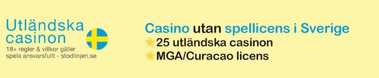 Spel utan spellicens i Sverige på Casinoutansvensklicens.casino