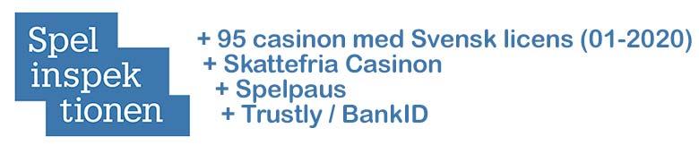 Casinon med Spelinspektionen