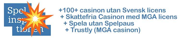 Casinon utan svensk licens