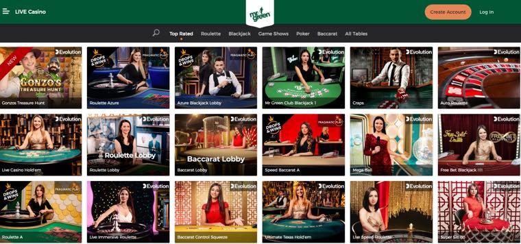 MrGreen - Live Casino