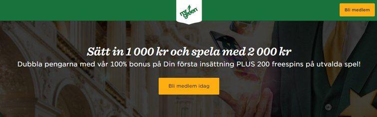 Sätt in 1 000 kr och spela med 2 000 kr